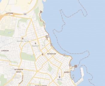 Manly Wynnum map